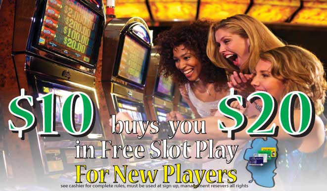 $20 in free slot play